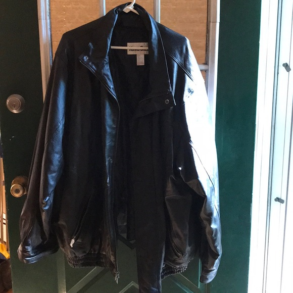 Kingsize Other - Mens Leather Bomber Jacket